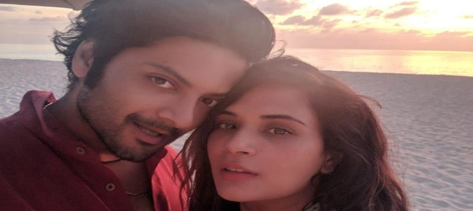 Richa Chadha and Ali Fazal pose together as a couple in their first magazine cover as a couple