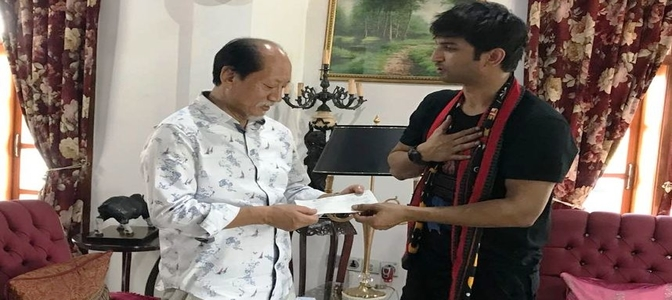 Sushant Singh Rajput visited flood affected areas of Nagaland