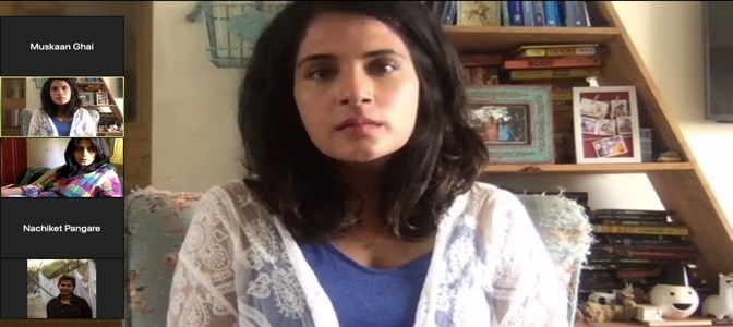 Richa Chadha joins hands with Arati Kadav for a sci-fi short film titled 55kms/sec shot virtually on phone