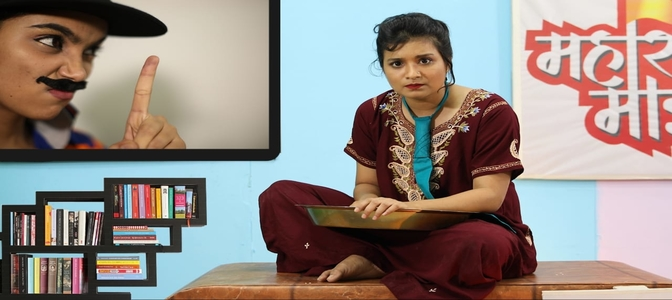 Actress Sharmila Rajaram plays newS reader